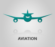 "Aviation Sector Image airplane artwork with text ""aviation"""