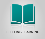 """Lifelong Learning"" (text) Sector Image with artwork of an open book"
