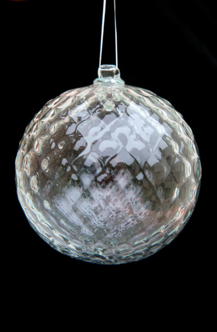 Hand-Blown Glass Ornament – Crystal