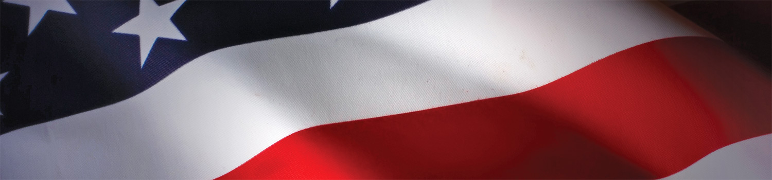 American flag waving background