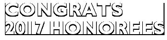 Congrats 2017 Honorees