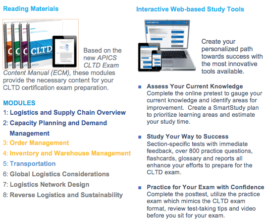 Certified In Logistics, Transportation and Distribution (CLTD