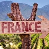 France vineyard sign