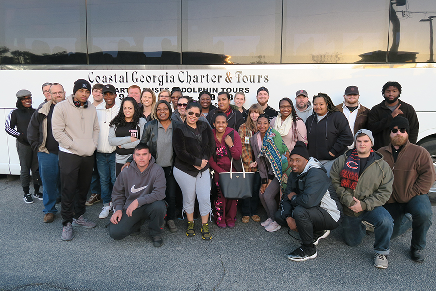 Skills USA 2018 Team photo bus