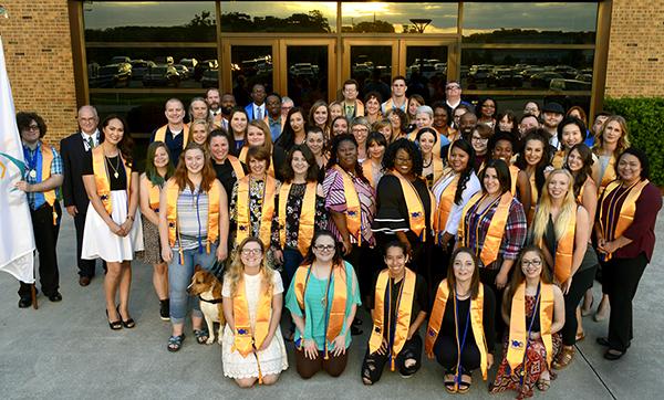 Phi Theta Kappa Honor Society 2018 induction class group photo