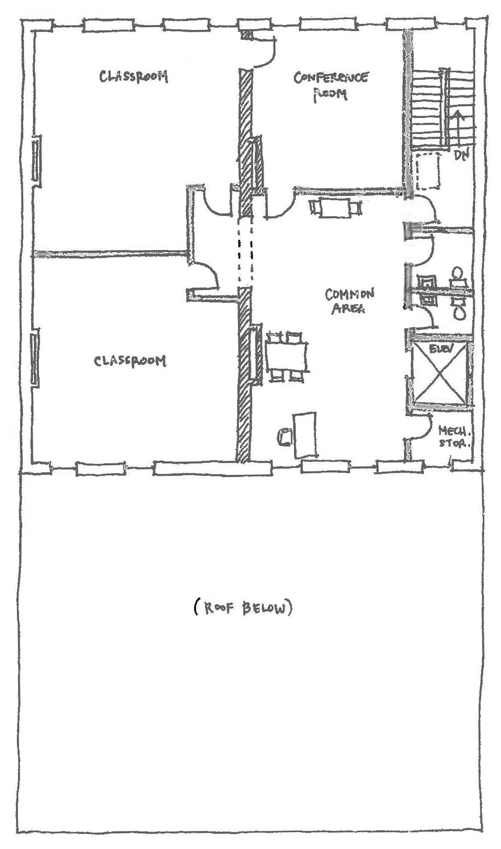 Third floor drawing plans by LS3P