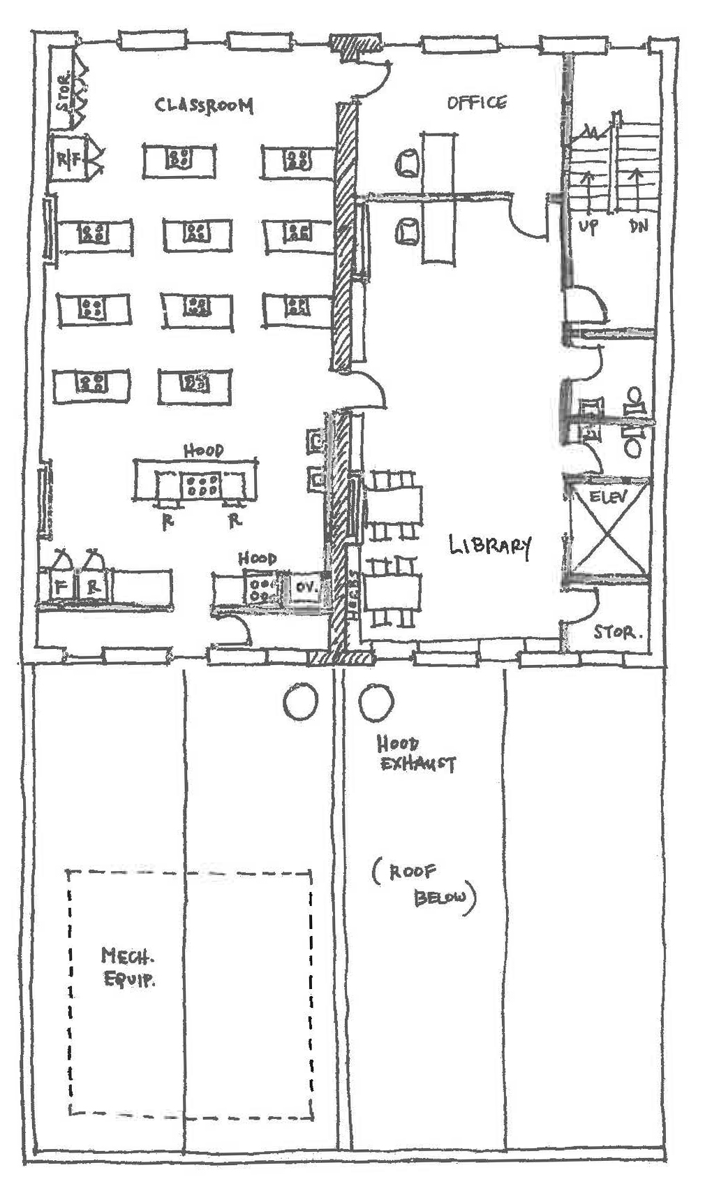 Second Floor drawing plans by LS3P