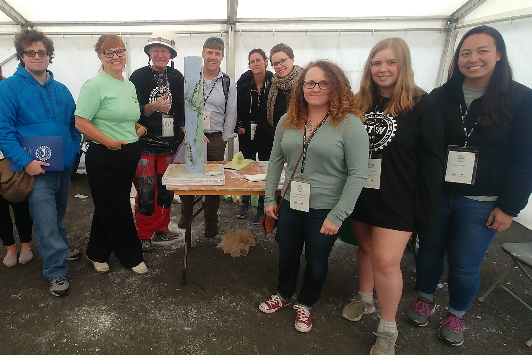 STC HP group under tent