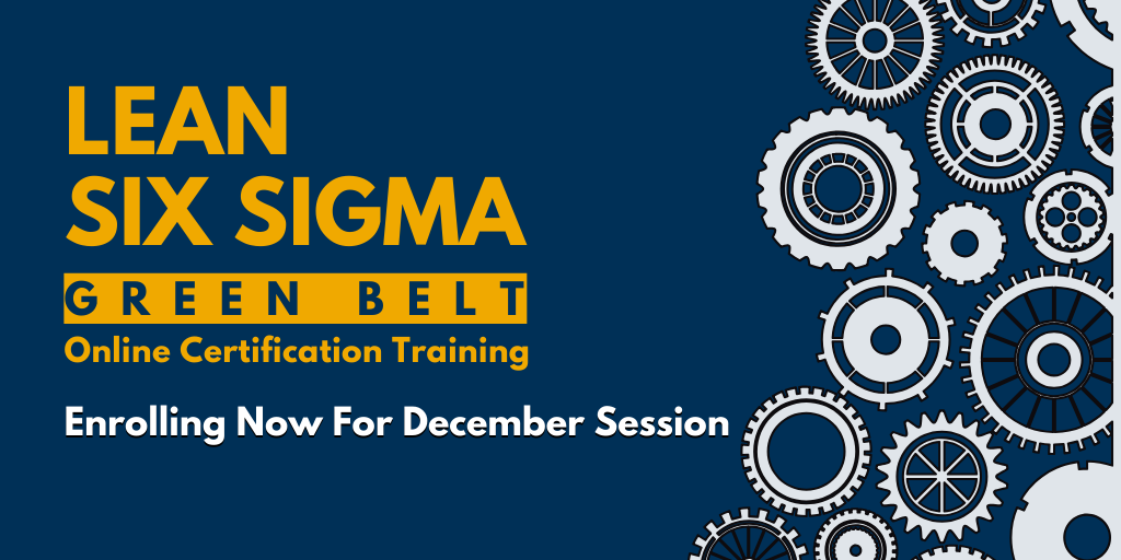 Lean Six Sigma Featured Course Image Enrolling Now for December Session
