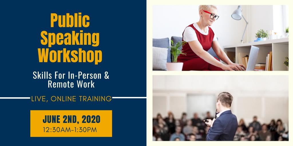 Public Speaking Workshop Website Image