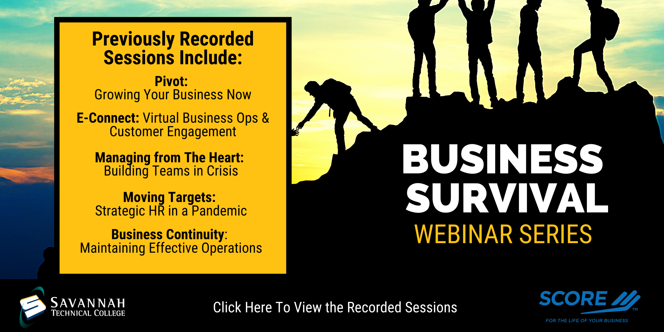 Click here to watch the previously recorded sessions