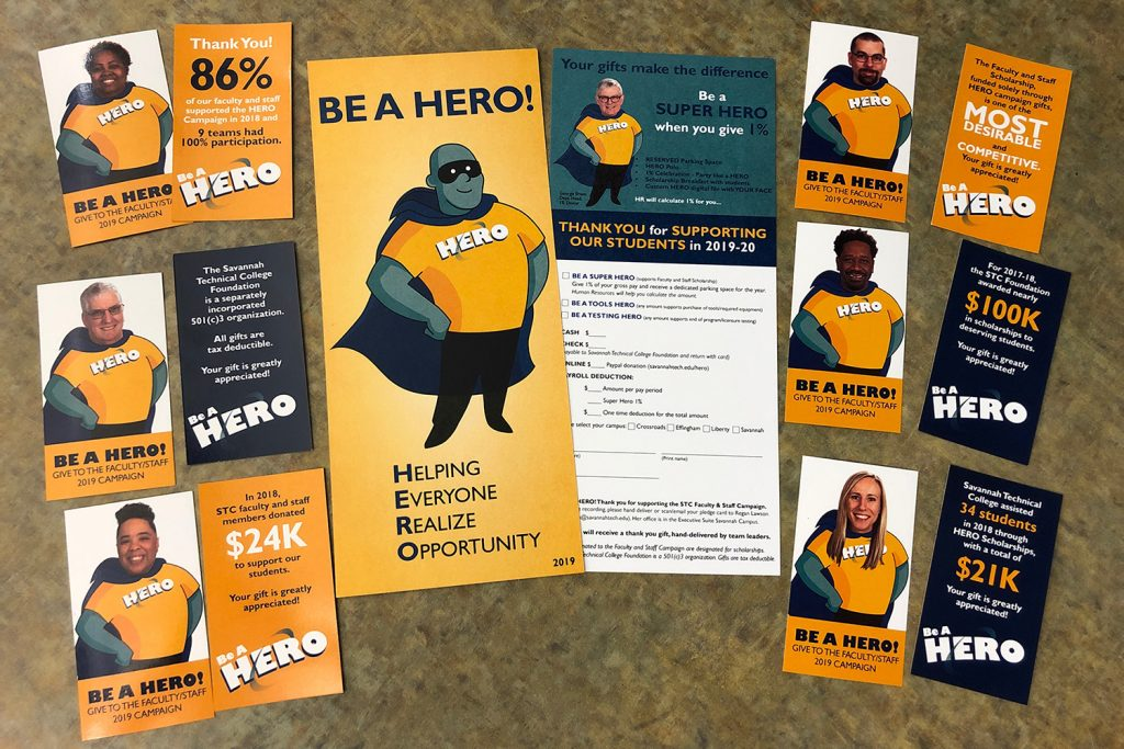 hero campaign promotional cards