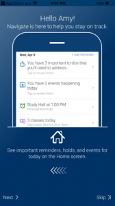 Navigate is here to help you stay on track reminders